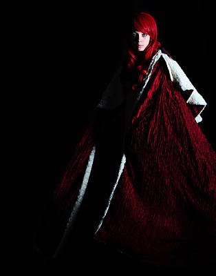 Poster featuring the photograph Red Riding Hood by Jim Boardman