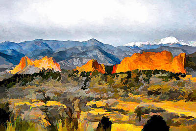 Poster featuring the digital art Red Rock Country by Brian Davis