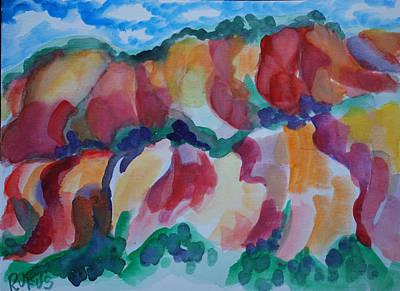 Red Rock Landscape Poster