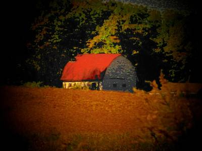 Red Roof Barn Poster by Joyce Kimble Smith