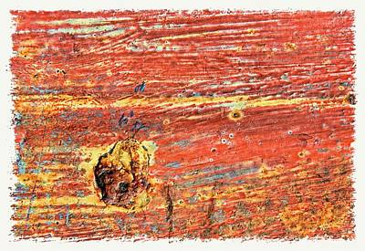 Red Rusted Steel Painted Background Poster by Rudy Umans