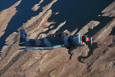 Red Stars Over Lake Pleasant Poster