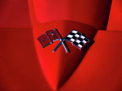 Red Stingray Badge Poster by Douglas Pittman