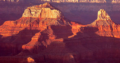 Poster featuring the photograph Red Stones At Sunset Grand Canyon by Rima Biswas