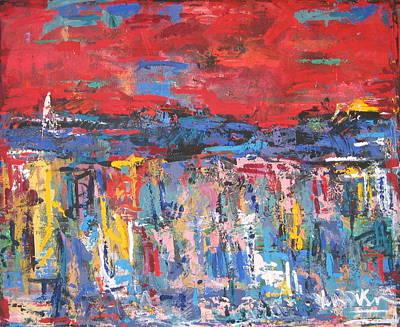 Red Tuscany 02 Poster by Len Yurovsky
