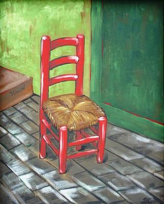 Red Vincent Poster by JW DeBrock
