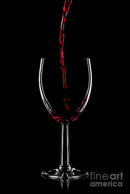 Red Wine Pouring Poster