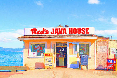 Reds Java House At San Francisco Embarcadero Poster by Wingsdomain Art and Photography