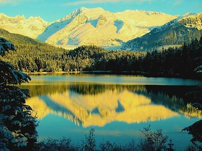 Poster featuring the photograph Reflecting On Auke Lake by Myrna Bradshaw
