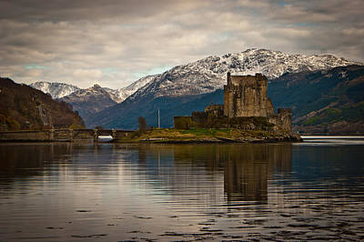 Reflection At Eilean Donan Poster by Chris Boulton