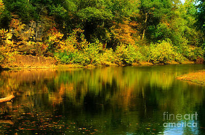 Reflection Of Autumn Colors Poster