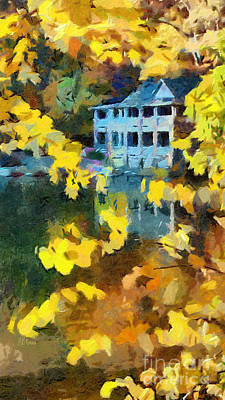 Reflections Of Montreat North Carolina Poster by Anne Kitzman