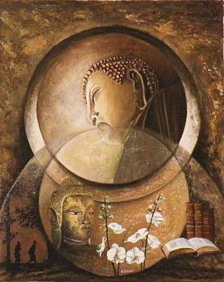 Reflexion Bouddhiste Poster by Frank Godille