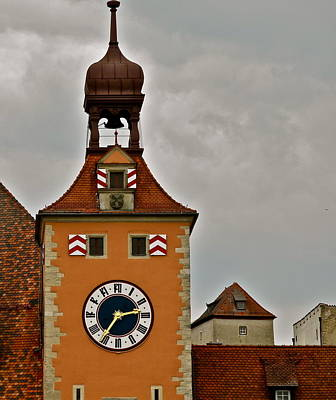 Poster featuring the photograph Regensburg Clock Tower by Kirsten Giving