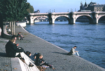 Relaxing Along The Seine Poster