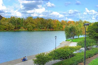 Poster featuring the photograph Relaxing At Hoyt Lake by Michael Frank Jr