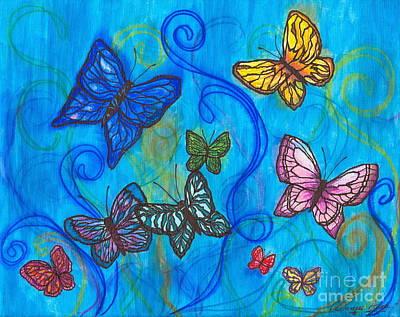Releasing Butterflies II Poster by Denise Hoag