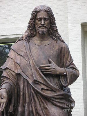 Religious Jesus Statue - Christian Art Poster by Kathy Fornal