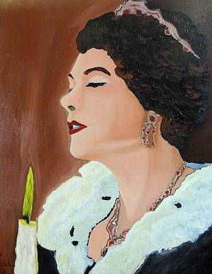 Poster featuring the painting Renata by Lisa Brandel