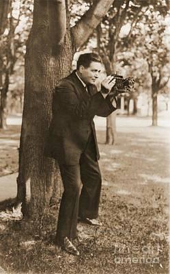 Renato Zanelle With Folding Camera Poster