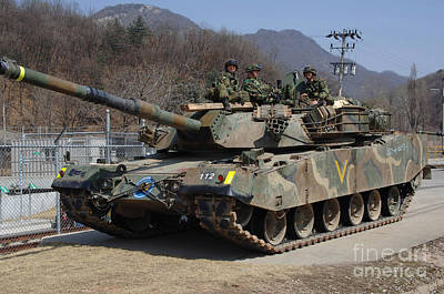 Republic Of Korea Army Soldiers Sit Poster