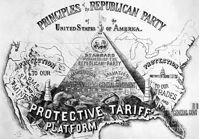 Republican Principles, 1888 Poster