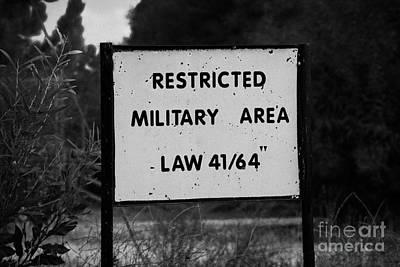 restricted military area at the greek cypriot border post at the UN buffer zone in the green line Poster