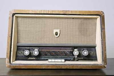 Retro Hi-fi Minerphon Radio Receiver Poster by Photostock-israel