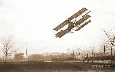Rex Smith Biplane 1912 Sepia Poster by Padre Art