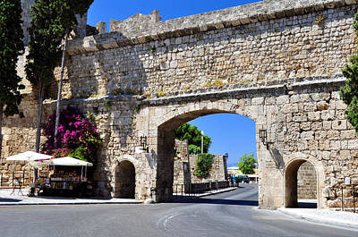 Rhodes Old Town. Poster