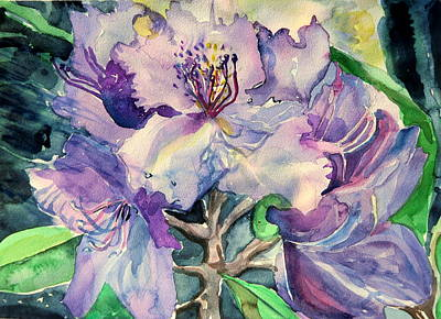 Rhododendron Poster by Mindy Newman