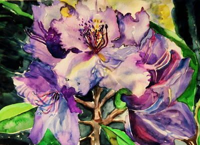 Rhododendron Violet Poster by Mindy Newman