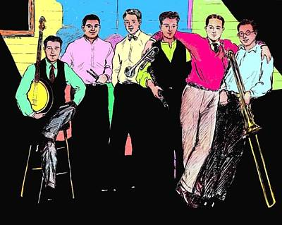 Rhythm Jugglers Color Poster by Mel Thompson