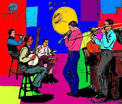 Rhythm Jugglers Recording Poster by Mel Thompson