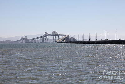 Richmond-san Rafael Bridge In California - 5d18435 Poster by Wingsdomain Art and Photography