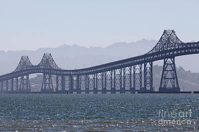 Richmond-san Rafael Bridge In California - 5d18441 Poster by Wingsdomain Art and Photography