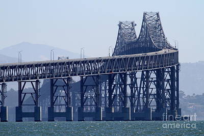Richmond-san Rafael Bridge In California - 7d18536 Poster by Wingsdomain Art and Photography