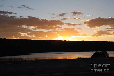 Ridgway Reservoir Sunset Poster