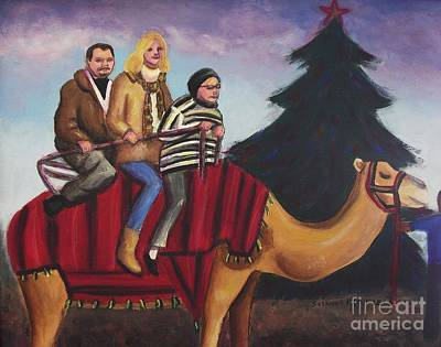 Riding A Camel Poster by Suzanne  Marie Leclair