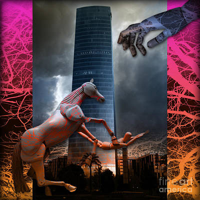 Poster featuring the photograph Riding  The Phallus Dream by Rosa Cobos