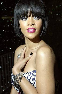 Rihanna At Arrivals For Jay-z And Giant Poster by Everett