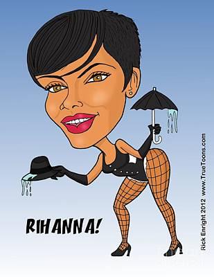 Rihanna Caricature 1 Poster