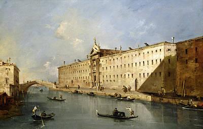 Rio Dei Mendicanti Poster by Francesco Guardi