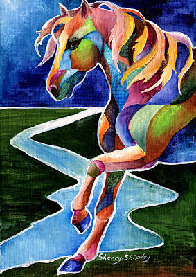 River Dance 2 Poster by Sherry Shipley