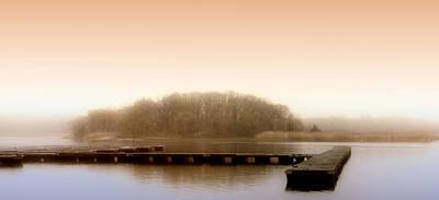 River Fog Poster by Karen Lynch