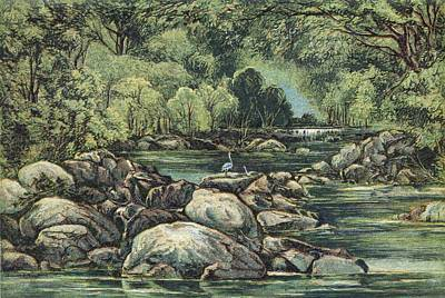 River In Tasmania, 19th Century Poster by King's College London