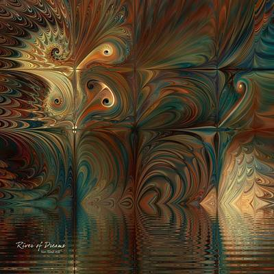 Poster featuring the digital art River Of Dreams by Kim Redd