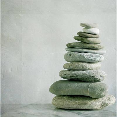 River Pebble Stone Pile Poster