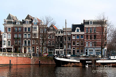 River Scenes From Amsterdam Poster by Carol Ailles