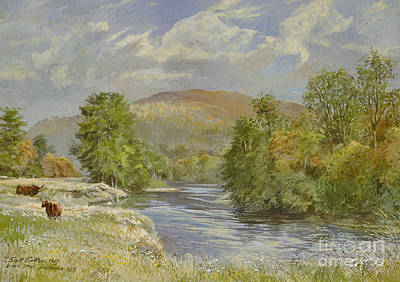 River Spey - Kinrara Poster by Tim Scott Bolton